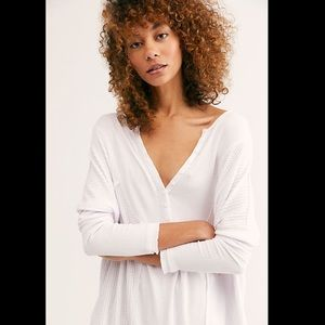 NWT Free People Leo Henley Top